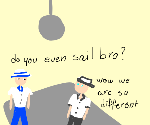 Two very different sailors on the dance floor