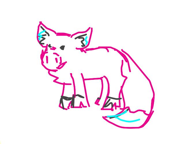 fox-pig