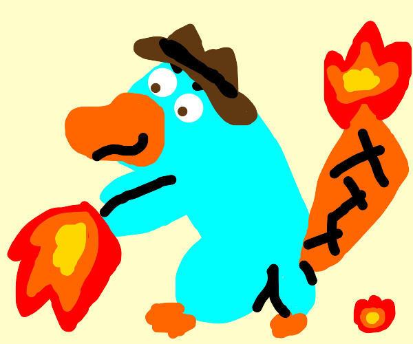 Perry the platypus controls fire