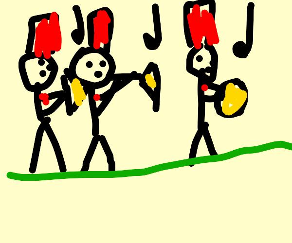 Three street preformers
