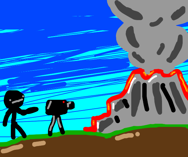 documenting a volcano