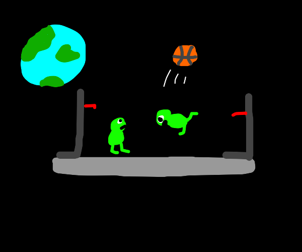 An incomplete game of space baseball