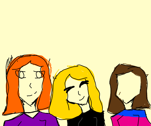 girl 1 with orange hair 1 yellow 1 brown hair