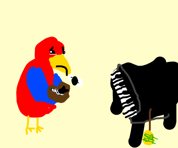 Parrot wants expensive piano