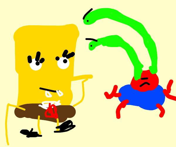 Spongebob and mr krabs
