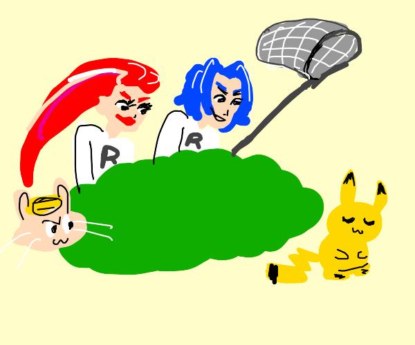 Team Rocket hunting Pikachu