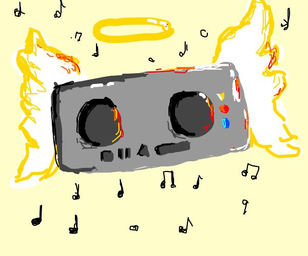 Angel boom box