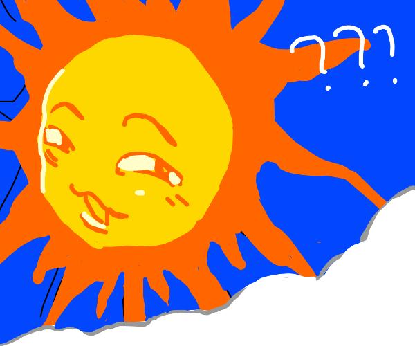 smug anime sun