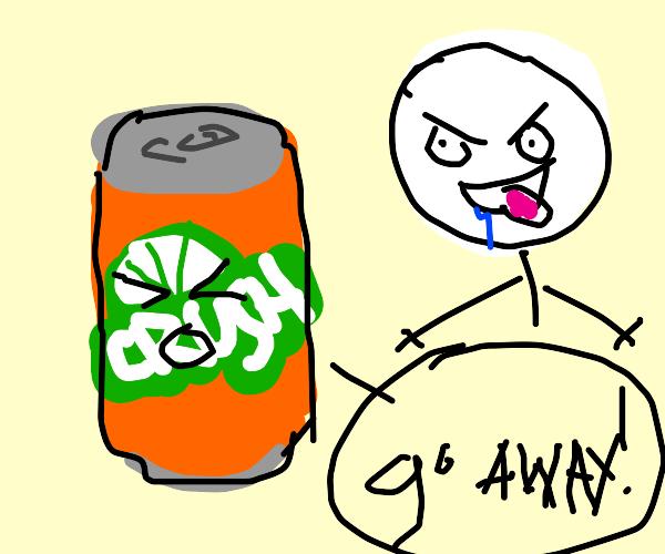 orange crush tells a creep to get lost