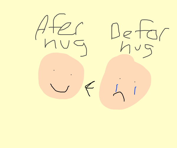 hugging someone can make their day :)
