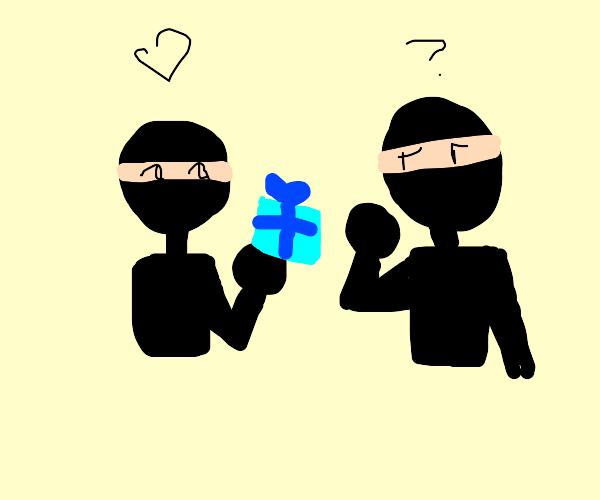 Ninja gives another ninja a bad gift
