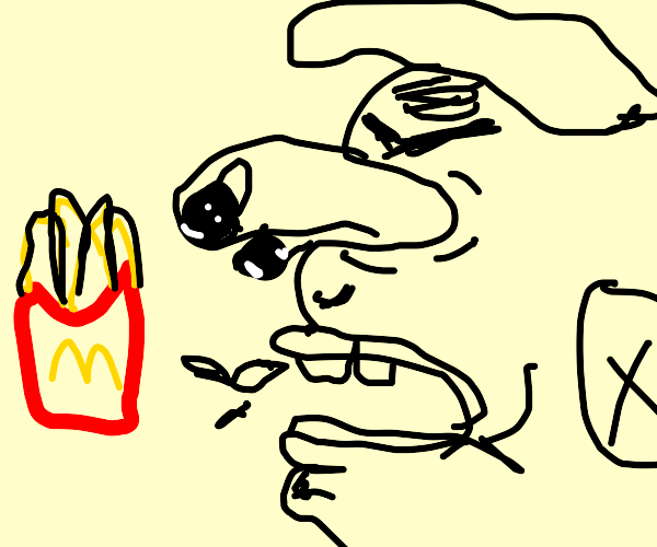 Mad at fries !