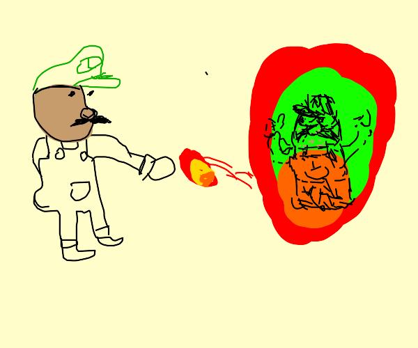 Mixed Luigi kills mixed mario