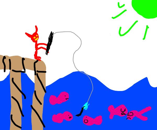 A demon fishing