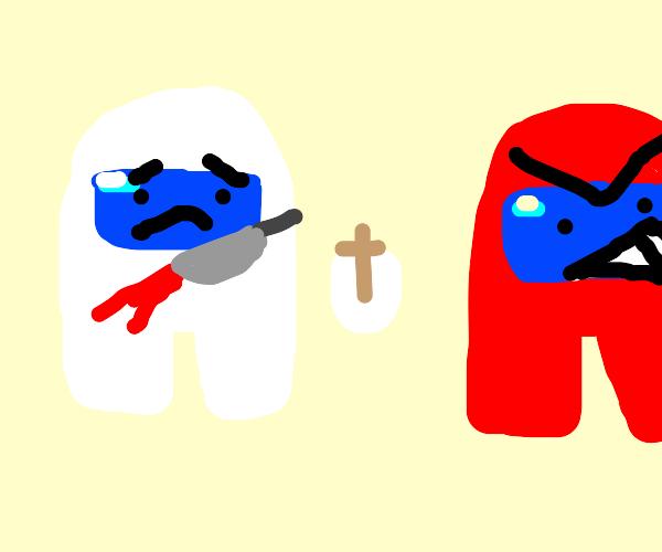 Amogus red kills Christian white amogus