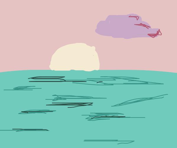 Beautiful sunset at a lake