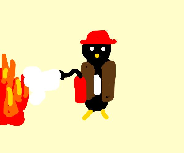 firefighter penguin