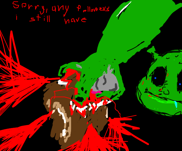 Shrek rips brain out of skull