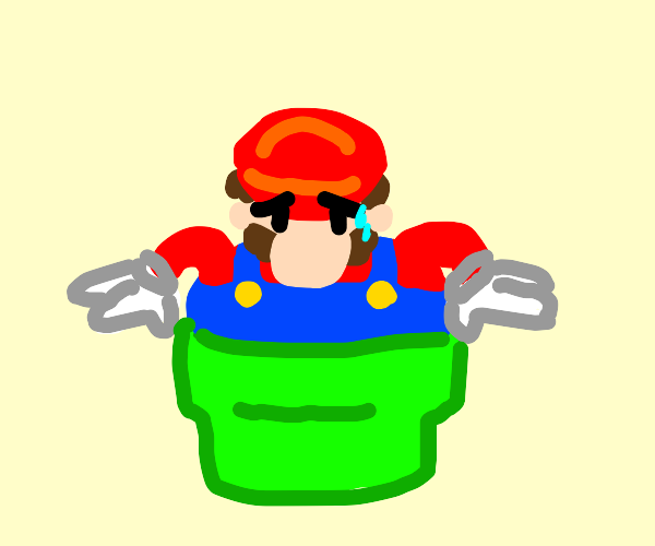 Mario can't go down the pipe