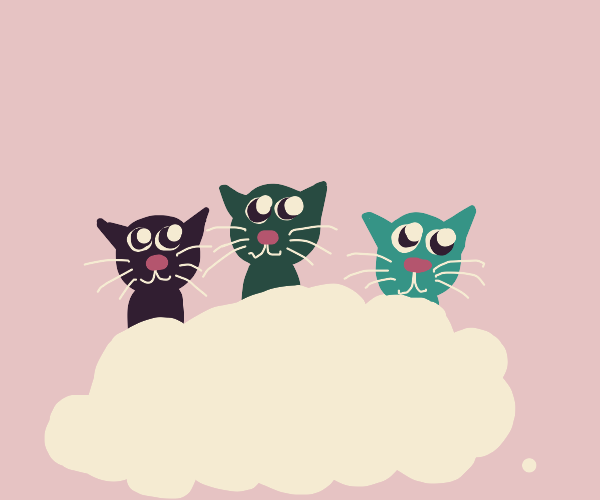 Cats sing to the clouds