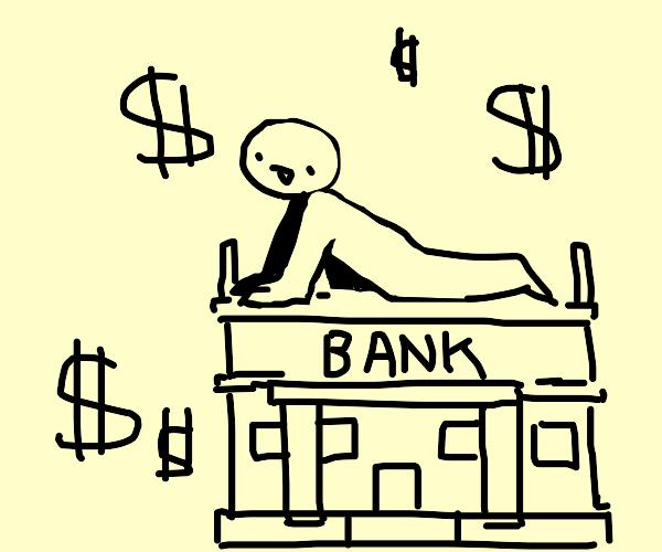 Person riding on a stolen bank