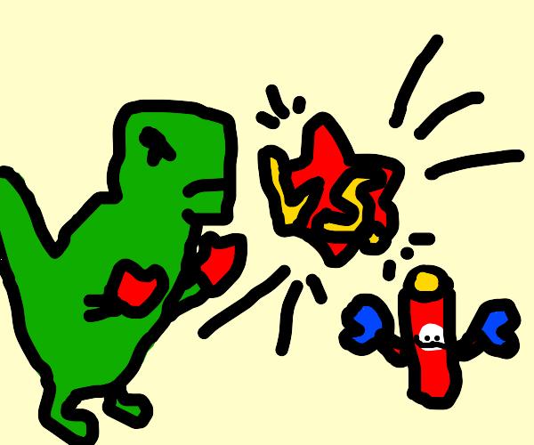 Dinosaur vs Chips