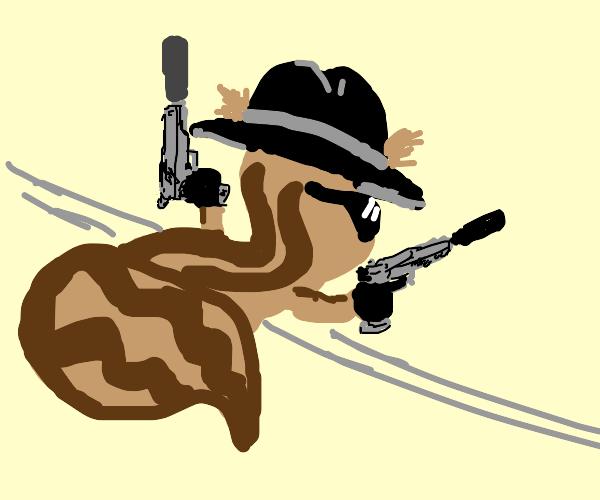 Duel wielding Squirrel Hitman