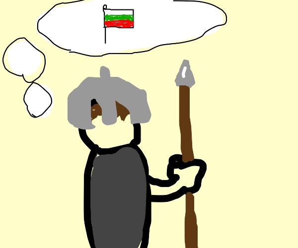 Guard imagining a Flag