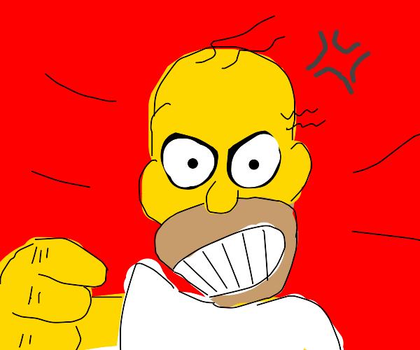 homer simpson goes berserk