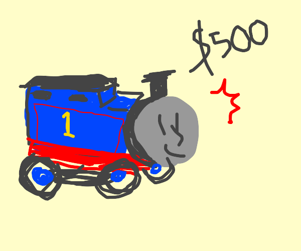 500$ of Tomas the train