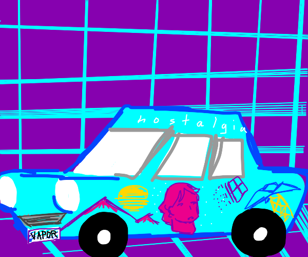 vool neon vaporwave car