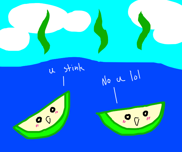 Pear slices stink up the ocean