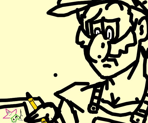 Mario draws patrick star