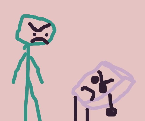 Tensions between large green man and greaser