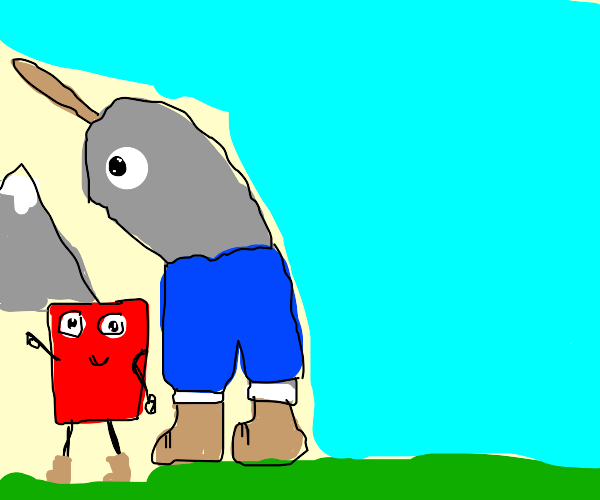 Narwhal hiking with a Square