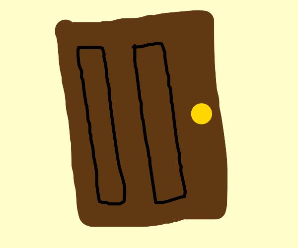 Tis ze brown door :0
