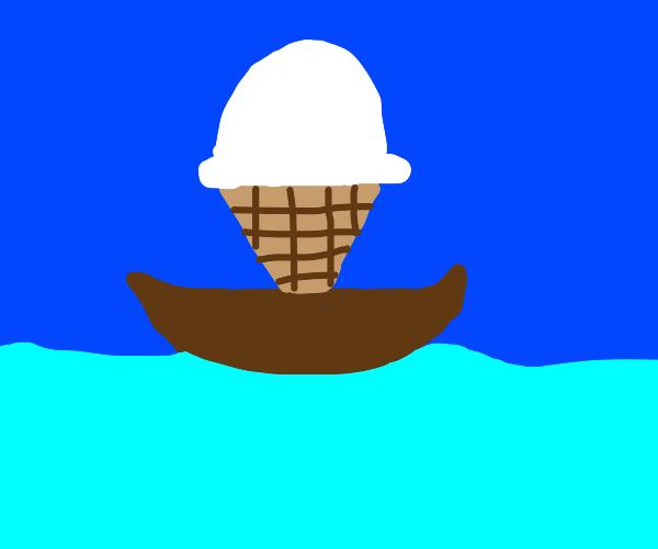 icecream in the boat