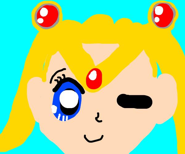 Sailor moon winks ;)