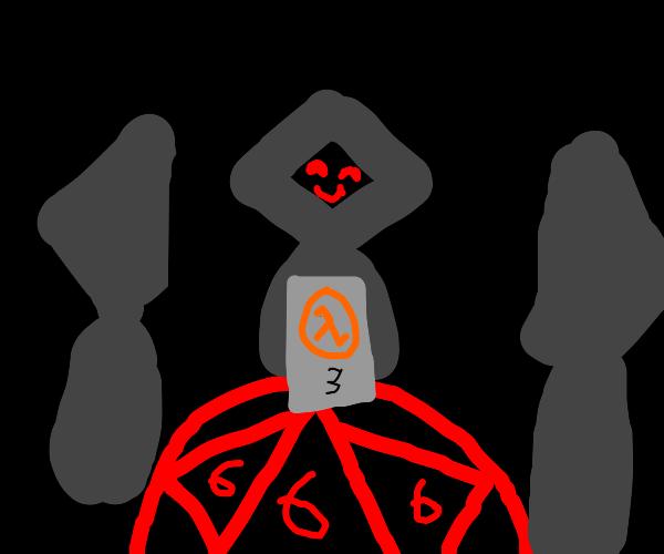 Half-Life 3 being summoned in dark ritual
