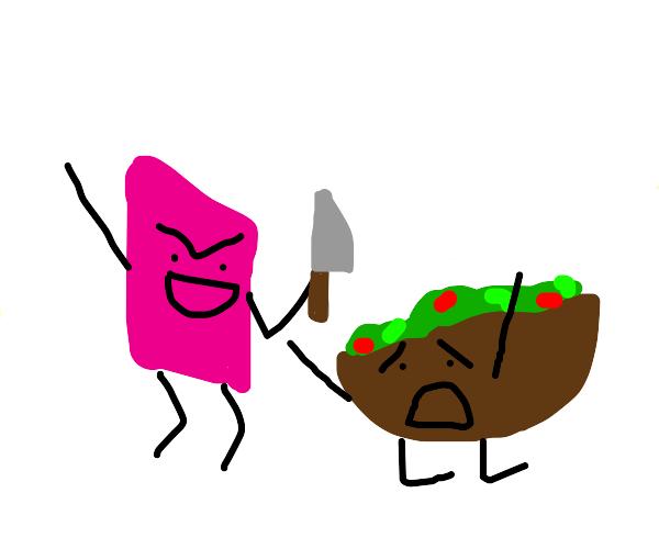Eraser is gonna kill salad
