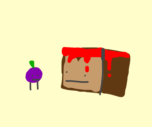 grape and blood bread