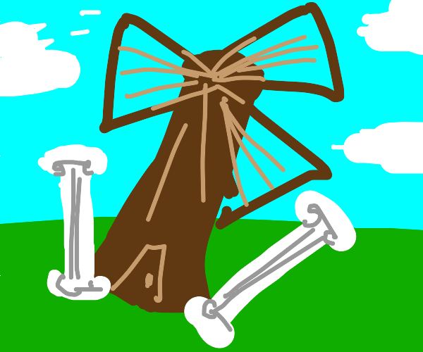 Antique Tilted Mill