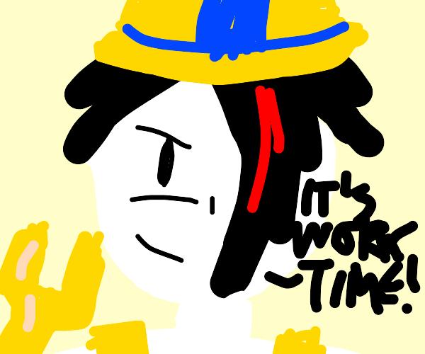 Emo construction worker