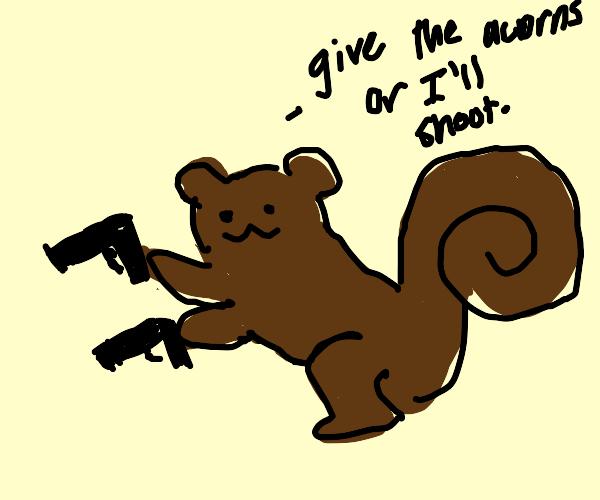 Squirrel with a gun