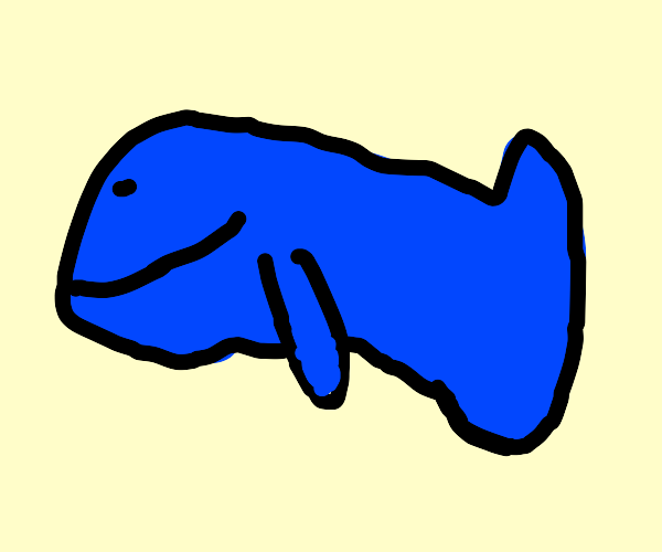 Abstract Blue Whale