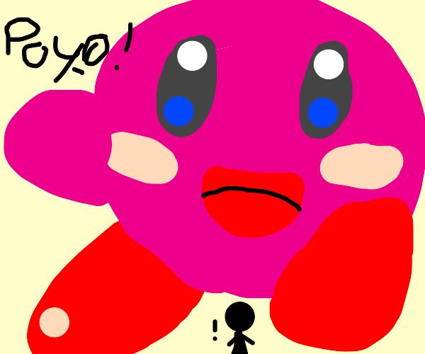 big buff kirby saying poyo