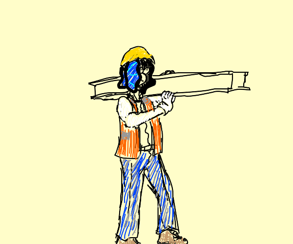Clam Construction Worker