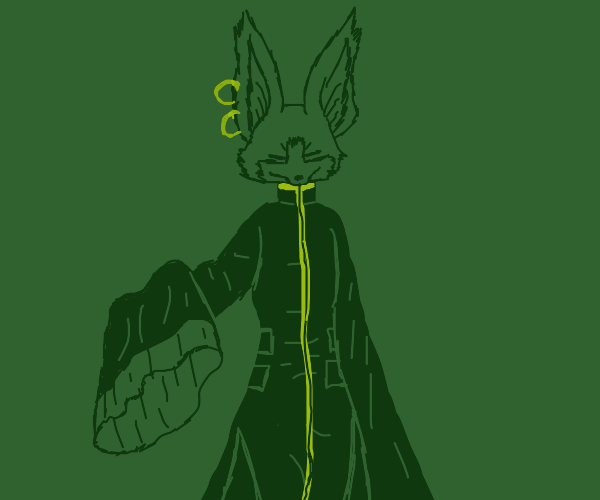 anthro fennec with earrings in large robe