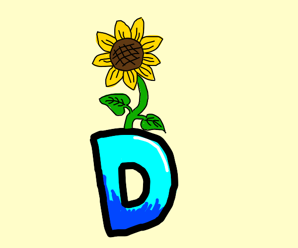 Drawception with a sunflower on top