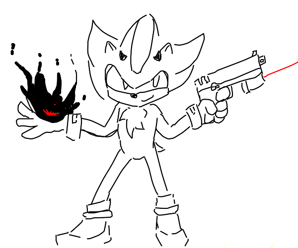 shadow the demonic hedgehog conjuring fire